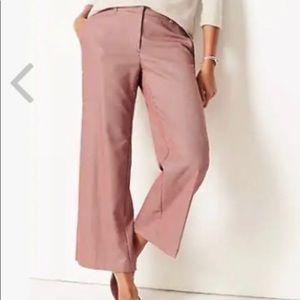 J. Jill Houndstooth Red Crop Pants